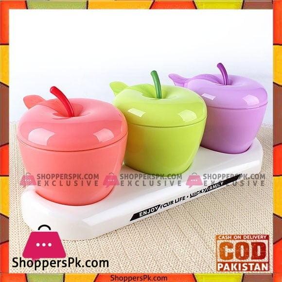 Creative Cute Little Apple Plastic Seasoning Tank Kitchen Seasoning Cassette Small Spoon