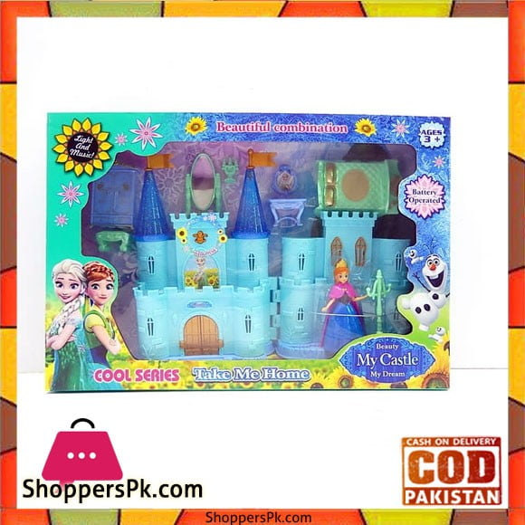 Frozen Castle Music Light with Furniture & A Princess Doll