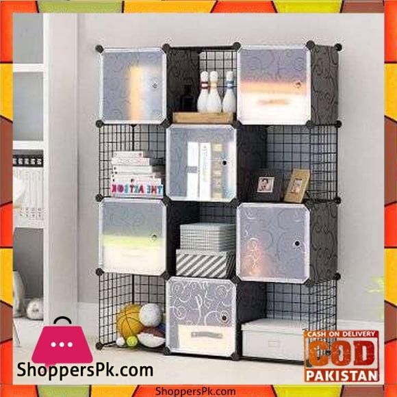 Intelligent Plastic Portable Grill + Cube Cabinet - 12 Cube