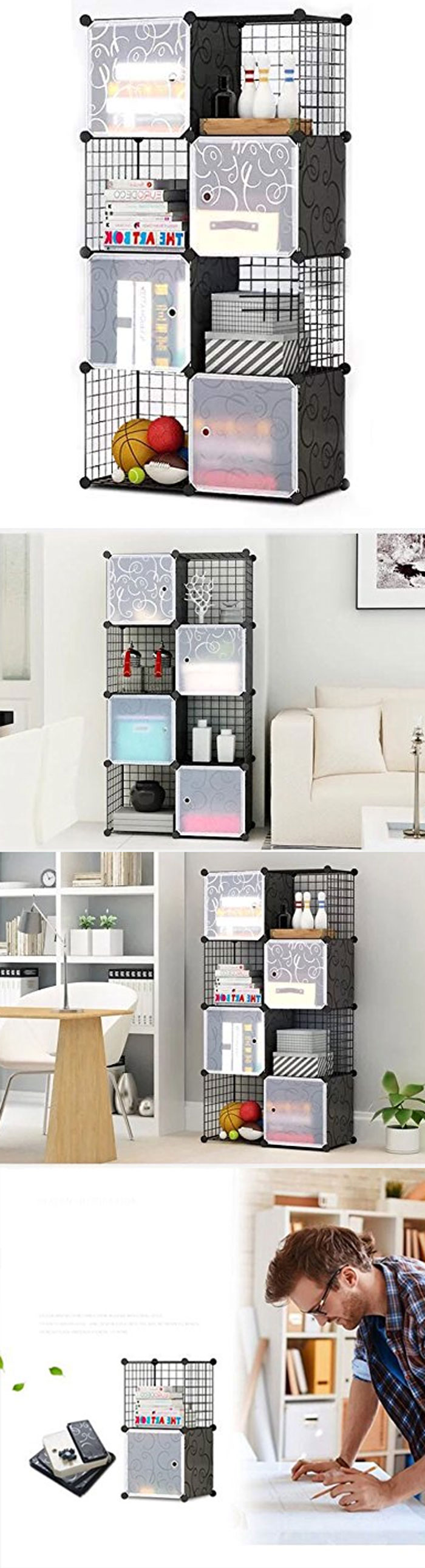 Intelligent Plastic Portable Grill + Cube Cabinet - 8 Cube