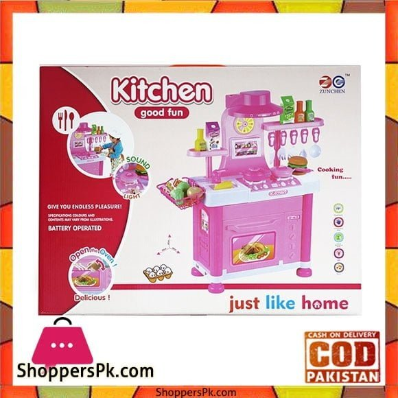 Kitchen Set Table Toys Just Like Home 6825-B