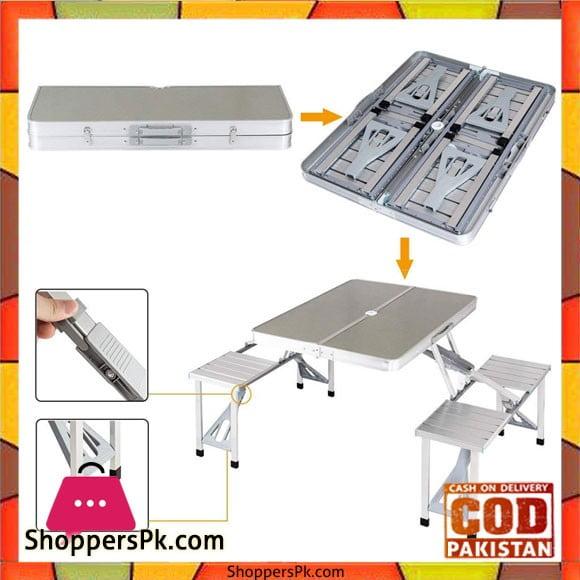 Portable Aluminium Folding Picnic Table