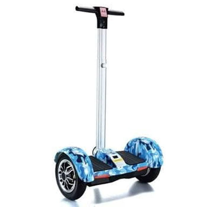Smart Hoverboard With Handle Bar Graffiti