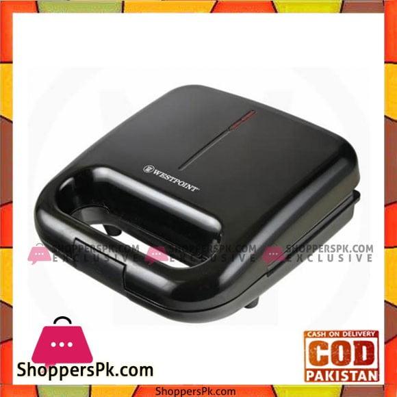 Westpoint WF-694 - Deluxe Sandwich Toaster - Black. - Karachi Only