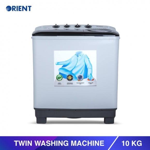 Orient Twin 10 Kg Modern White Washing Machine - Karachi Only