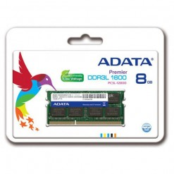 ADATA ADDS1600W8G11-R Premier 8GB 1600MHz DDR3L PC3L-12800 Low Voltage 1.35V / 1.5V Dual SODIMM  Notebook Memory