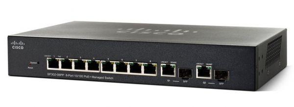 Cisco SF302-08P 8-Port 10/100 PoE Managed Switch