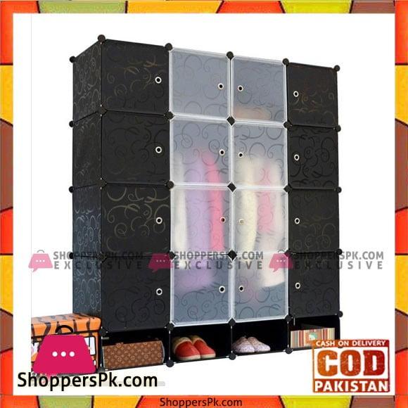 Black Plastic Door Covers for Interlocking Cube Storage Shelves / Shoe Rack