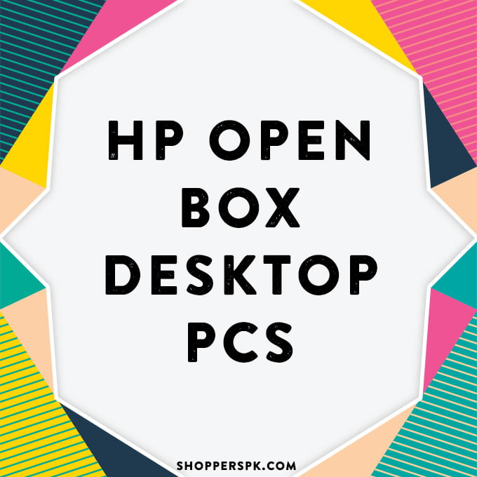 Hp Open Box Desktop Pcs in Pakistan