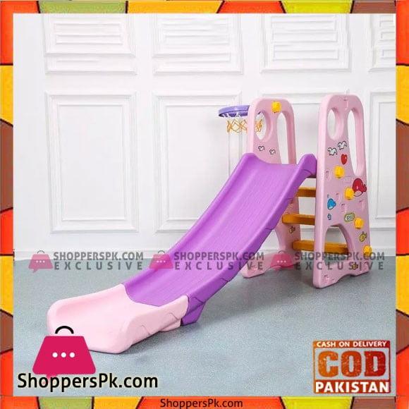 Kids Slide With Basket Ball