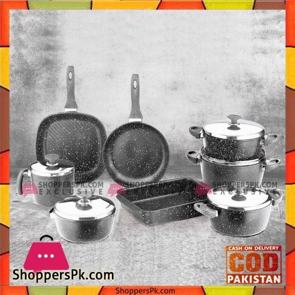 Cook Set Granite Saflon 1c 13 Pcs Set