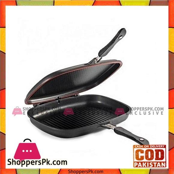 Sonex Die Cast Ceramic Coating Double Grill Pan (30 Cm)