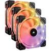 Corsair HD120 RGB LED High Performance 120mm PWM Fan — Three Pack with Controller - CO-9050067-WW