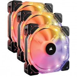 Corsair HD120 RGB LED High Performance 120mm PWM Fan — Three Pack with Controller - CO-9050067-WW