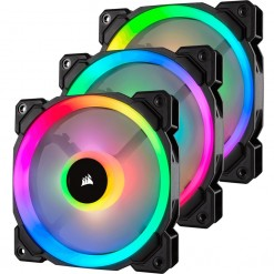Corsair LL120 RGB 120mm Dual Light Loop RGB LED PWM Fan — 3 Fan Pack with Lighting Node PRO - CO-9050072-WW