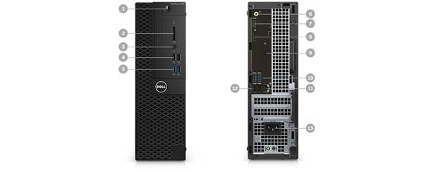 Optiplex 3050 Desktop - Ports & Slots – Small Form Factor