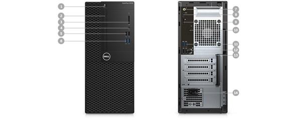 Optiplex 3050 Desktop - Ports & Slots – Tower