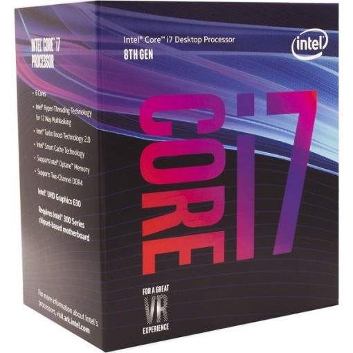 Intel Core i7 8700 8th Gen. 3.2GHZ 12MB Cache