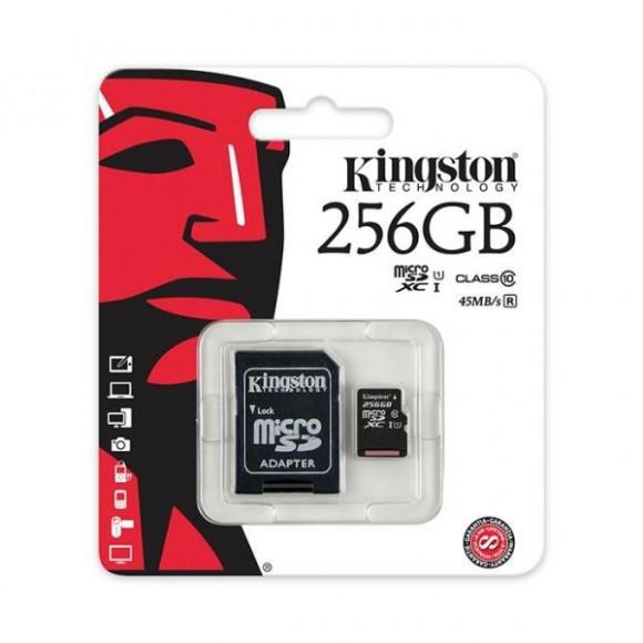 Kingston Micro SD 256GB Card Class10