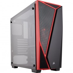 Corsair Carbide Series® SPEC-04 Tempered Glass Mid-Tower Gaming Case — Black/Red (CC-9011117-WW)