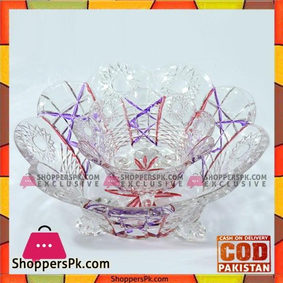 High Quality Classic Glass Serving Bowl 2 Pcs Set