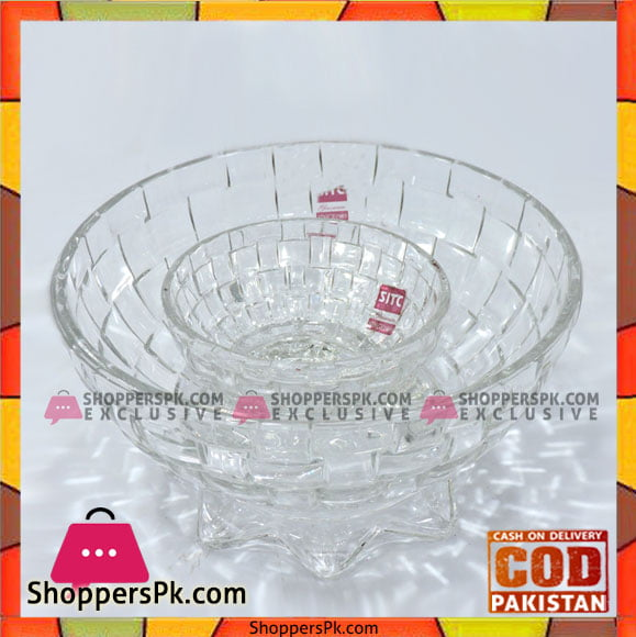 High Quality Classic Glass Serving Bowl 2 Pcs Set