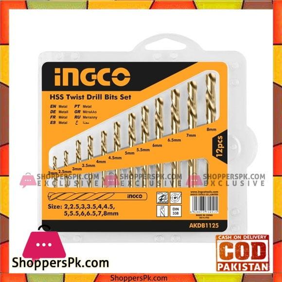 INGCO HSS Twist Drill Bits 12 PCS Set AKDB1125