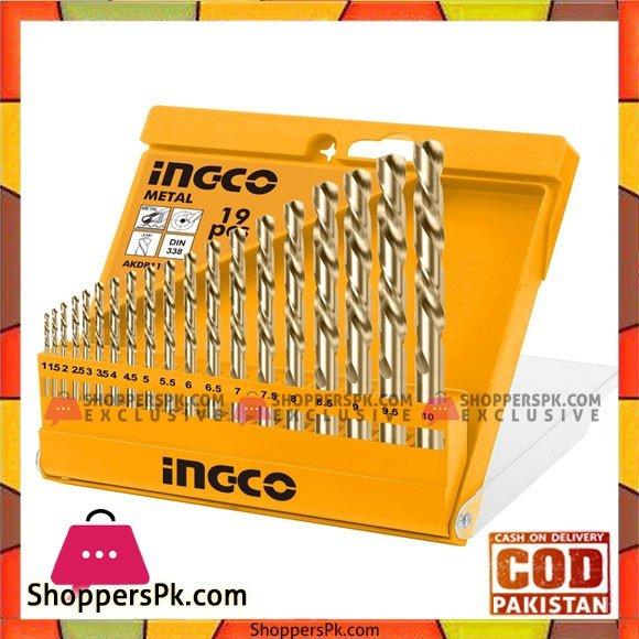 INGCO HSS Twist Drill Bits 19 PCS Set AKDB1195