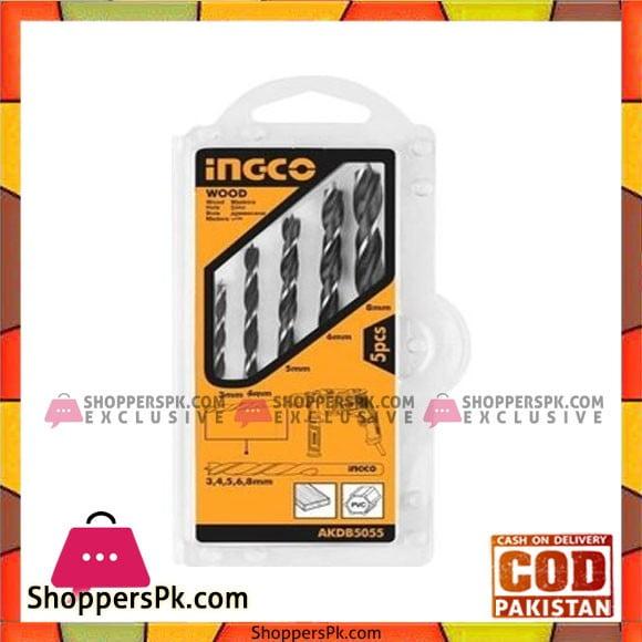 Ingco Wood Drill Bits 5PCS Set AKDB5055