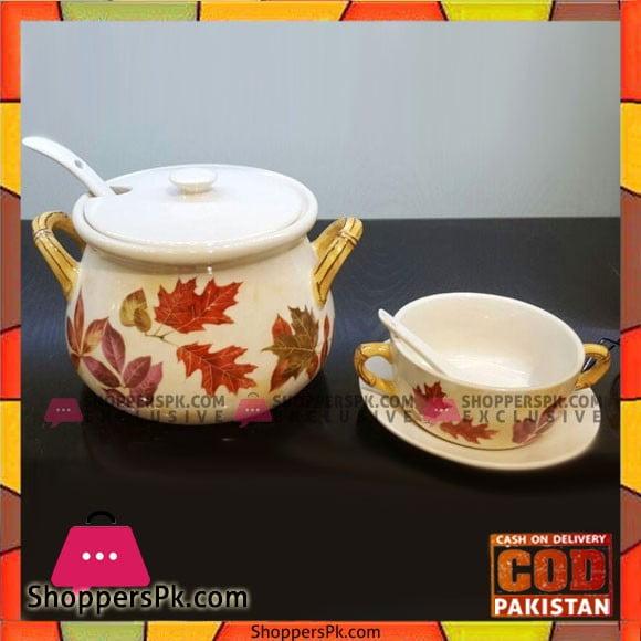 Solecasa Pot Style Soup Set - 21 Pcs - Ceramic