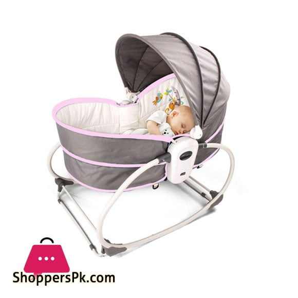 5 In 1 Rocker, Bouncer Chair With Removable Bassinet - BB555