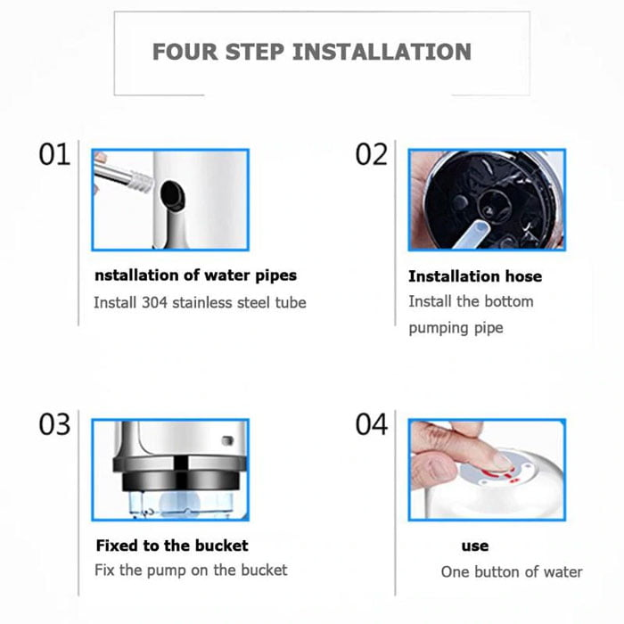Automatic Electric Portable Water Pump Dispenser Switch USB Rechargeable Water Pump for Home Office