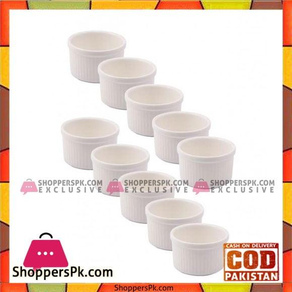 Solecasa White Ramekins Standard 6 Piece Set
