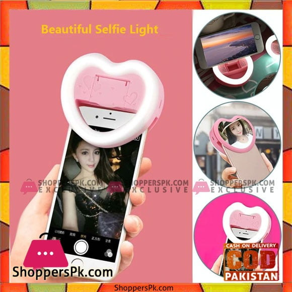 Beautifull Rechargeable Fill Light Selfie Ring Light Clip Mirror and Phone Holder for iPad Smartphone