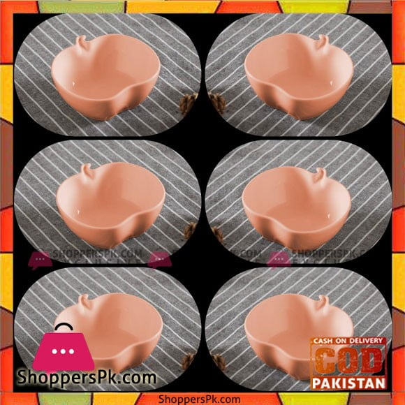 Ceramic Bowls-Set of 6-Orange-4.2 Inch