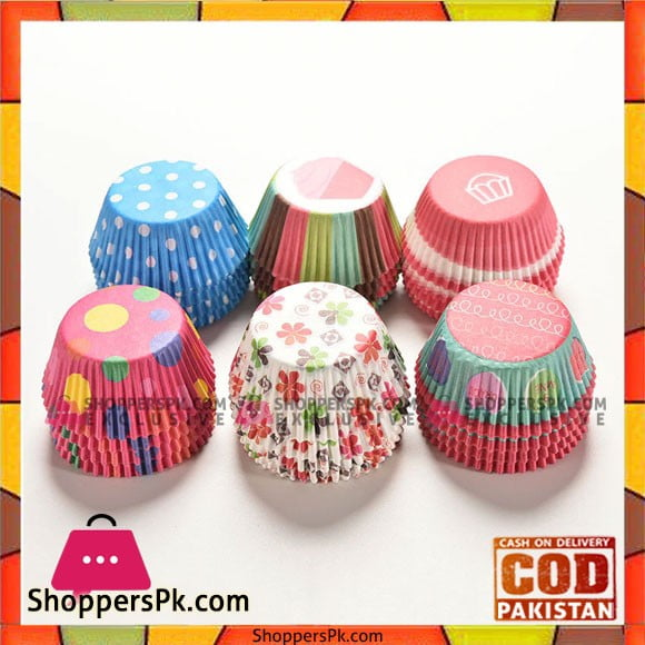 Printed Cupcake Liner 7.5 Cm 100 Piece Set