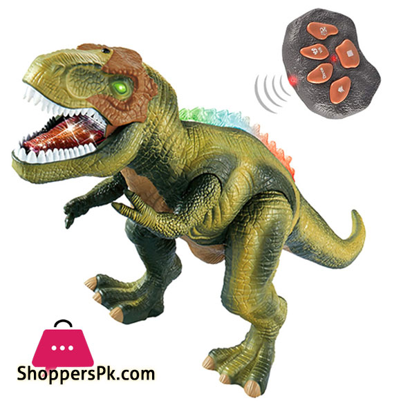 Dinosaur Remote Control Electric Toy Big Dinosaurs Hiking Sound Spray Light Gifts for Kids