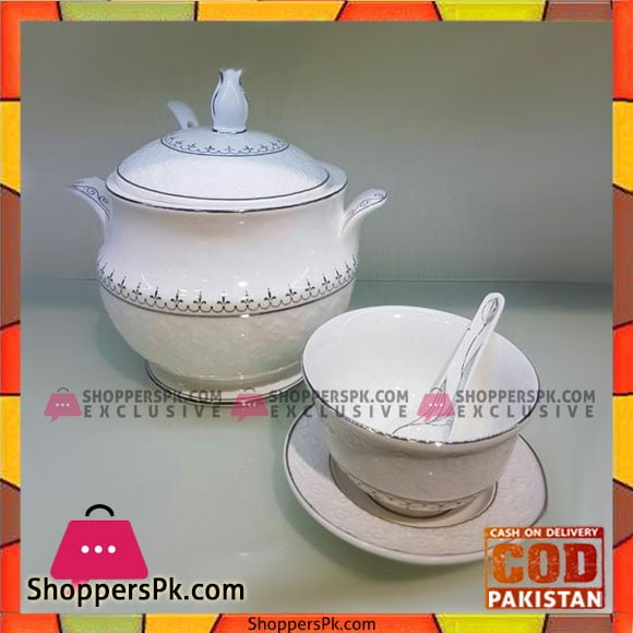 Elegant Soup Set-21 Pcs-Silver Line
