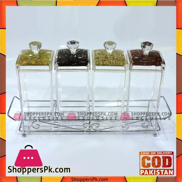 High Quality 4 Pcs Kitchen Jars Set