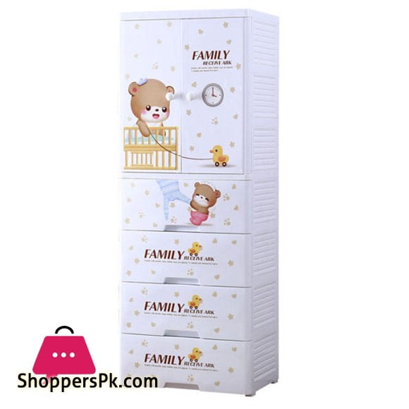 High Quality Baby Clothes Storage Wardrobe with 4 Drawer Cabinet