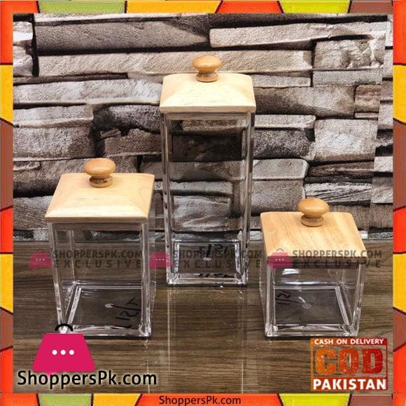 High Quality Glass Spices Jars 3 Pcs Set