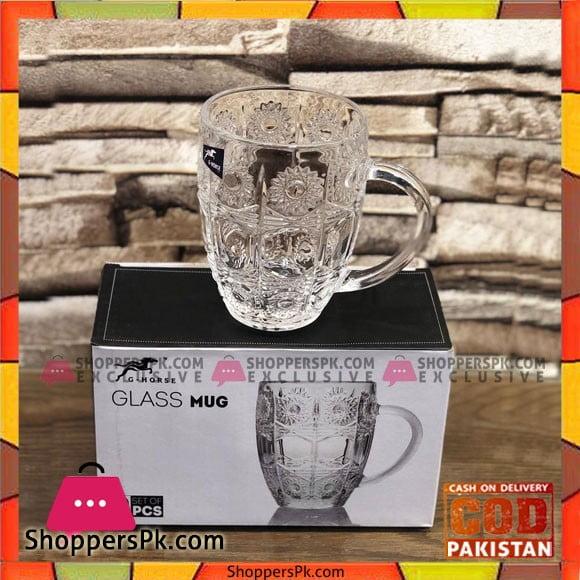 High Quality Glass Tea and Coffee Cups 2 Pcs Set