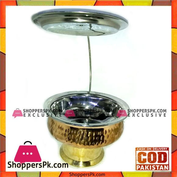 High Quality Pure Copper 1kg Serving Dish With Burner and Lid Stand