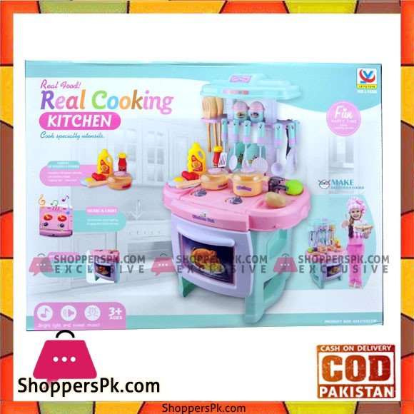 Real Cooking Kitchen Play Set For Girls