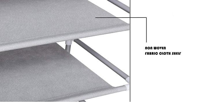 High Quality Shoe Rack Organiser 5 Layer (Beige Flower)