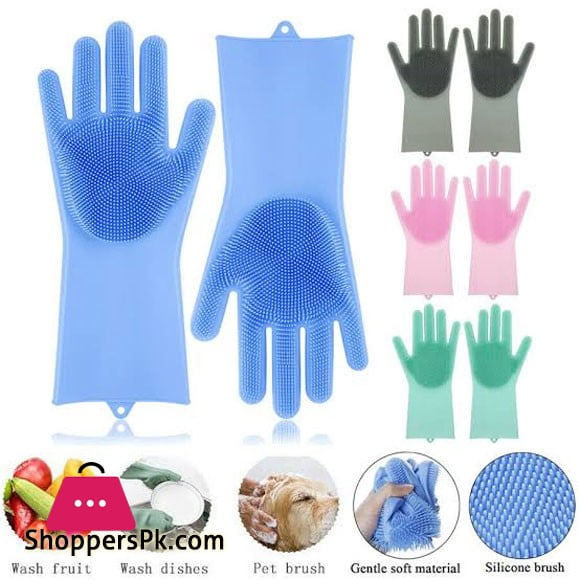 High Quality Silicone Dish washing Gloves Two Pcs