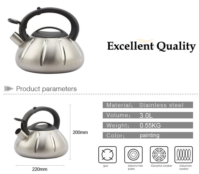 High Quality Stainless Steal Tea Kettle 3 Liters