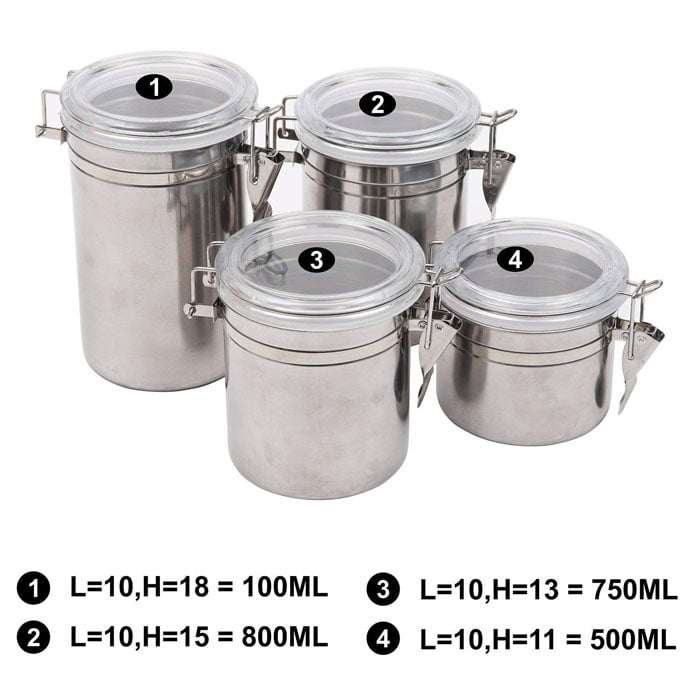 Buy High Quality Stainless Steel Canisters Space Saving Kitchen