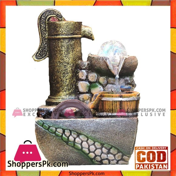 Home Decoration High Quality Small Waterfall With Runing Water Wheel