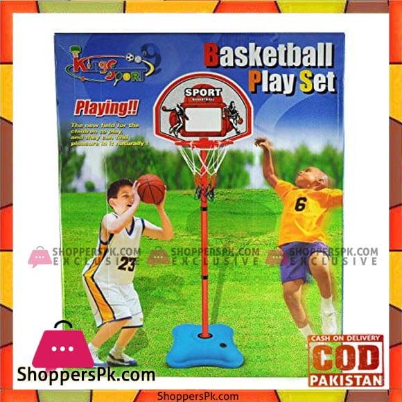 Kids Playing King Sport Basket Ball Play Set
